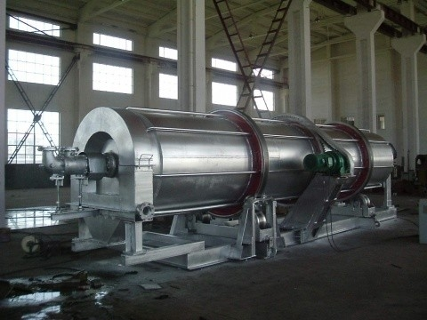 Drum Type Rotary Ash Cooler Wearing Resistance For High Temperature Slag